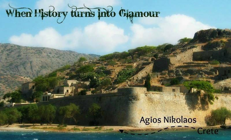 View-of-the-fort-Spinalonga-island-Elounda. Crete on the road: A stop in Agios Nikolaos