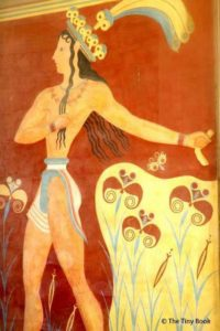 Prince of the Lilies - Crete, Palace of Knossos.What to do in Heraklion with children.