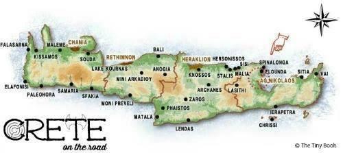 Map-of-crete-highlighting-agios-nikolaos