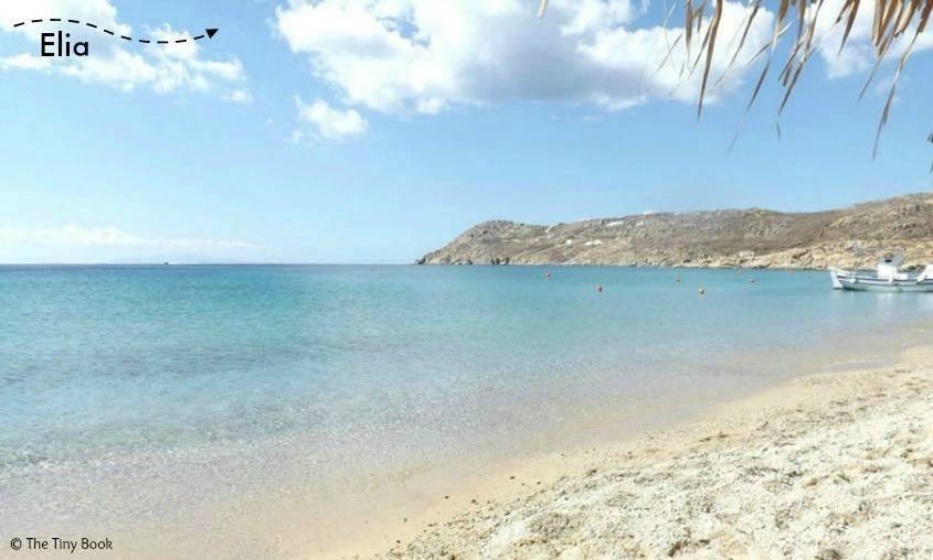 Elia, friendly beach of Mykonos
