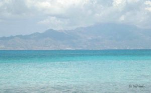 The incredible color of the sea, Crete in the background.