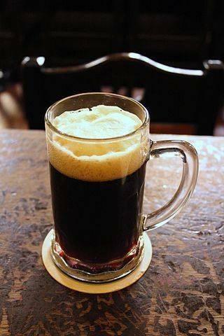 Glass of Dark Beer (Nove Mĕsto Beer Hall).             ®Øyvind Holmstad.