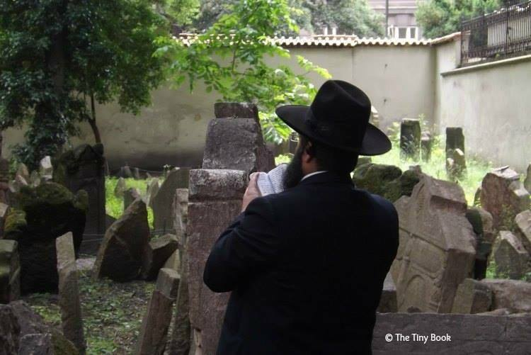 Pinkas Synagogue, Prague - Inside the Jewish cemetery.