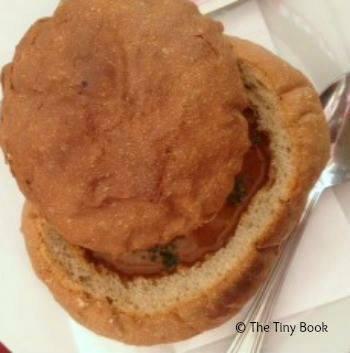 Goulash soup inside a loaf of bread - Prague