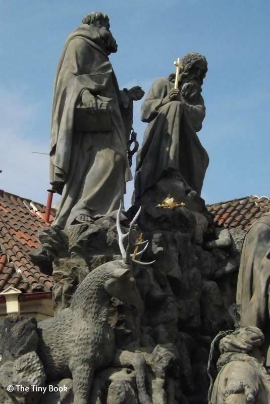 Statues on Charles Bridge. Prague.