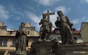Statues over Charles Bridge, Prague