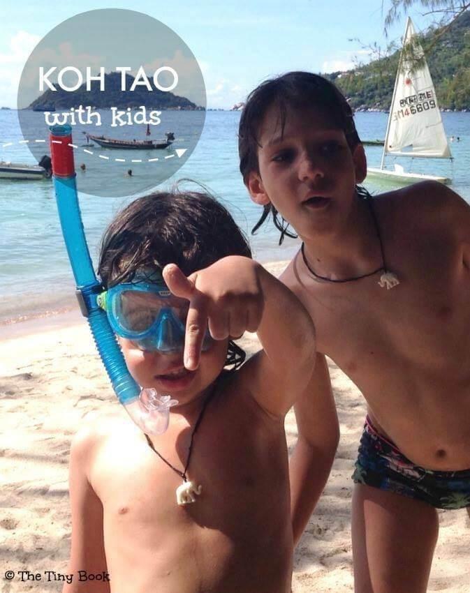 Traveling Kids in Koh Tao. Amazing Koh Tao, Thailand.