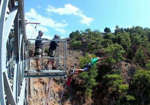 bujee jumping, Crete, Aradena