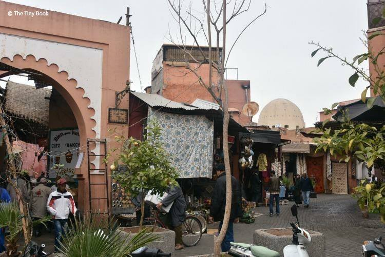 A side view of the Souk. Avoid scams in Marrakech