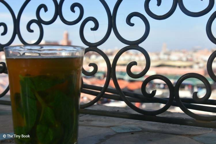 Seeing everything from the upper cage with a mint tea.