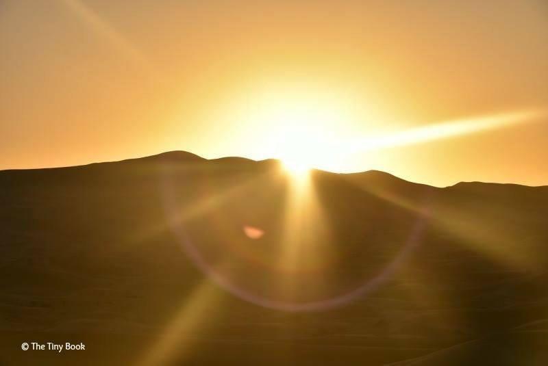 The Sahara, the silence, the dawn.