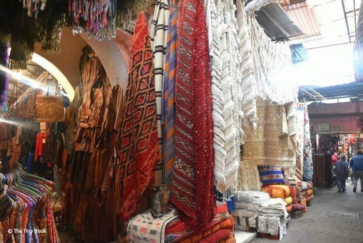 Carpets at the Souk. Marrakech