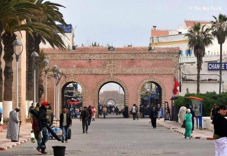 Entrance to the Medina of Essaouira.