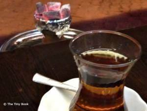 Apple tea and live coal.