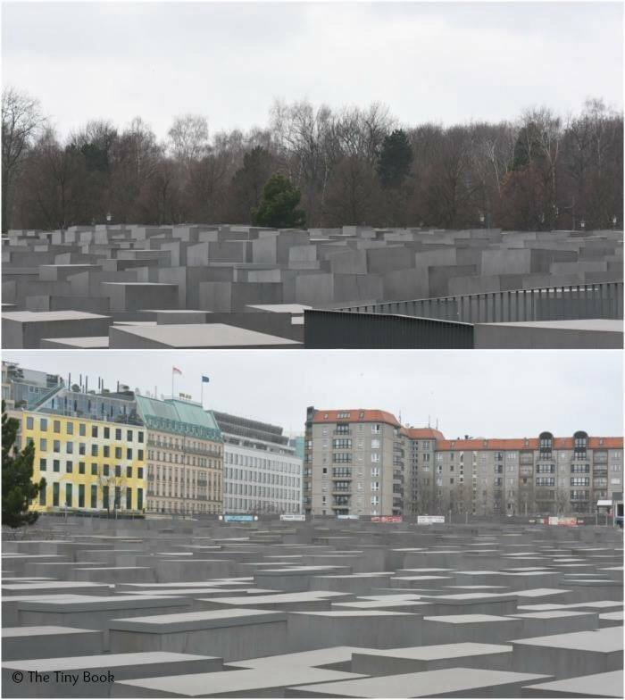 Memorial to the murdered Jews of Europe. World War II streets of Berlin