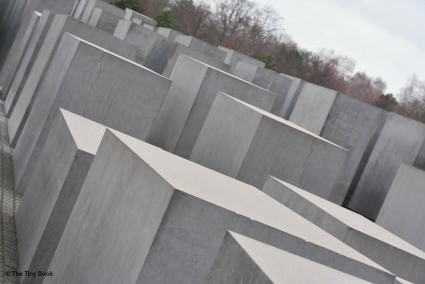 Memorial to the murdered Jews of Europe. World War II streets of Berlin