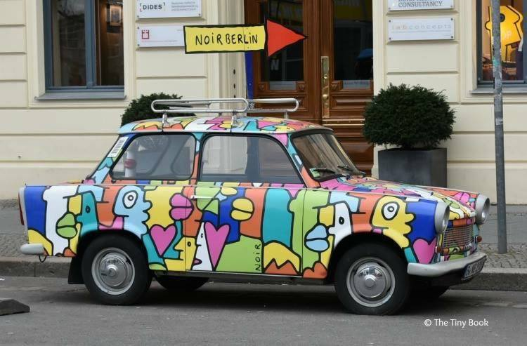Berlin: Old Trabants are commonly seen around. World War II streets of Berlin