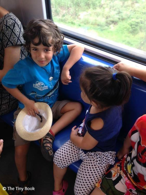 Making friends on a train The importance of travel for children