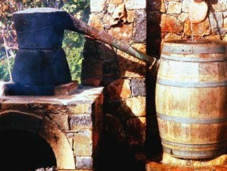 Cauldron to make raki, Crete.