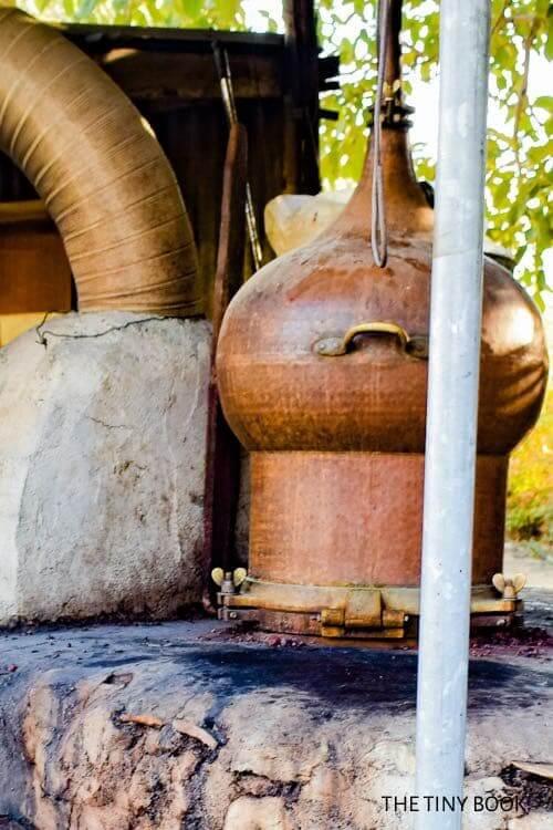 kazani, raki cauldron in crete