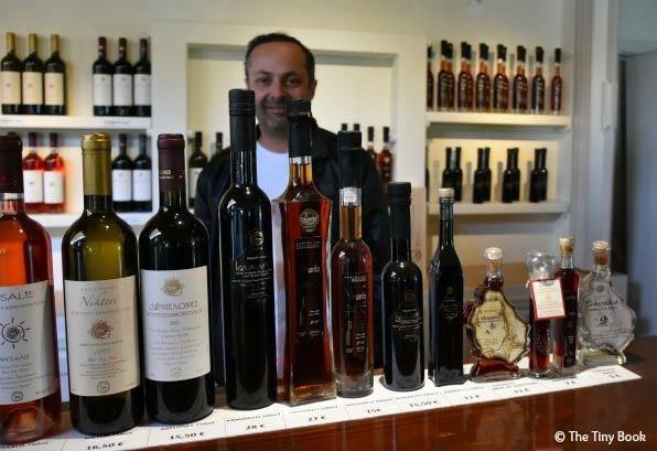 Mr. Koutsoyannopoulos and his wines.