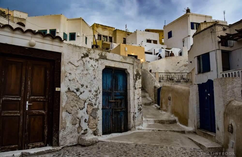 village, Santorini, alley, Greece