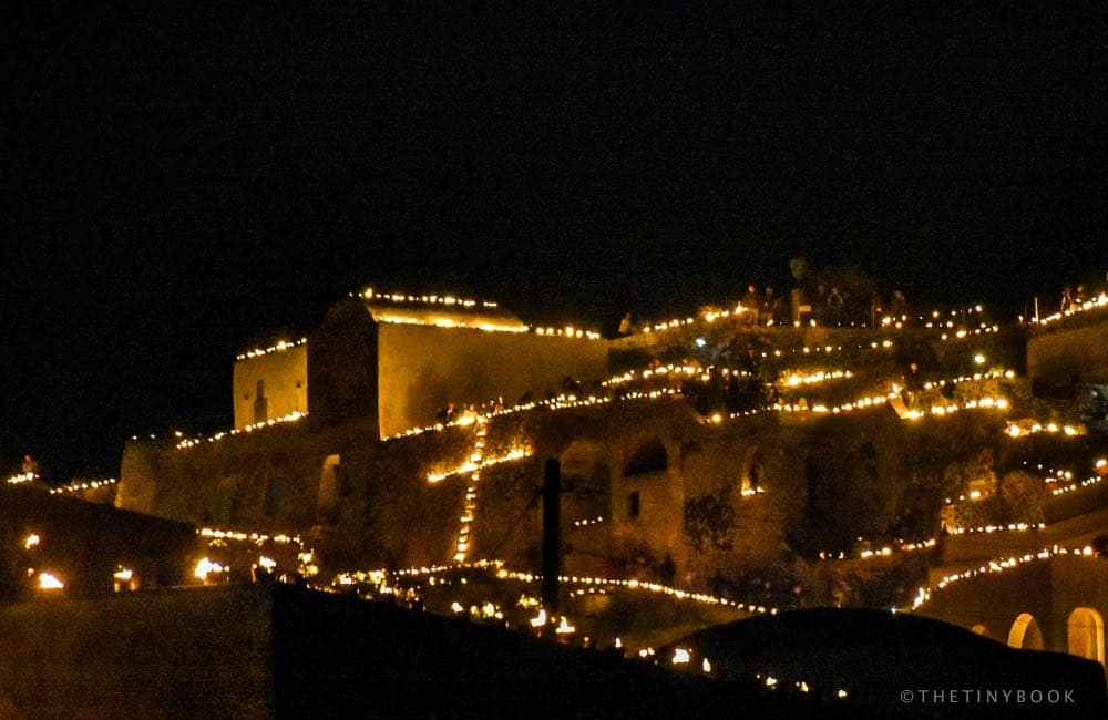Easter, lights, flames, candles, Greece, Santorini