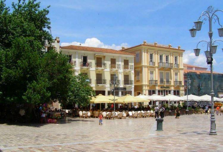 Napflio Main Square. Sailing Greece. Cruising around Culture and History