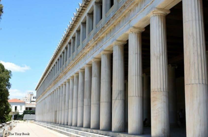 Athens Mythological Tour: The Stoa of Attalos (outer view).