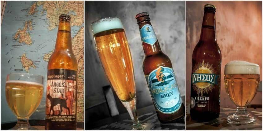 Local Greek Beers at Mana's Kouzyna-Kouzyna. Athens