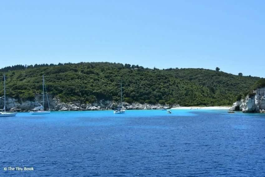 Paxos and Antipaxos. The blue caves of the Ionian sea. Sailing in Greece with Children.