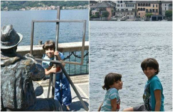 Lake Orta with the Family