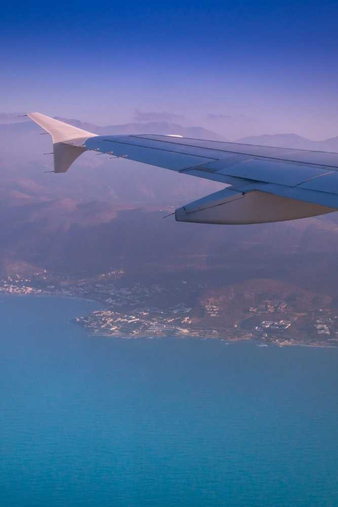 GREECE - CRETE - HERALION - FLYING OVER HERAKLION
