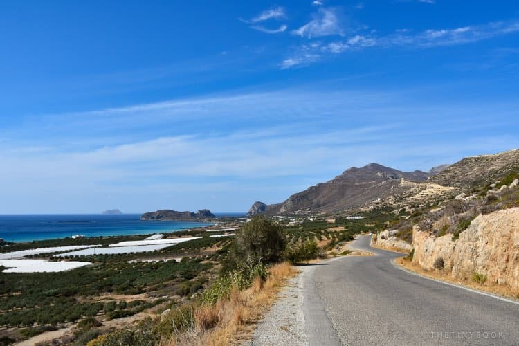 Road to Falassarna beach, Crete.