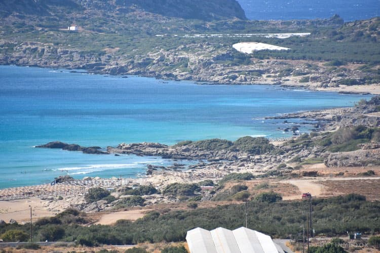 Greenhouses and beaches of Falassarna Crete