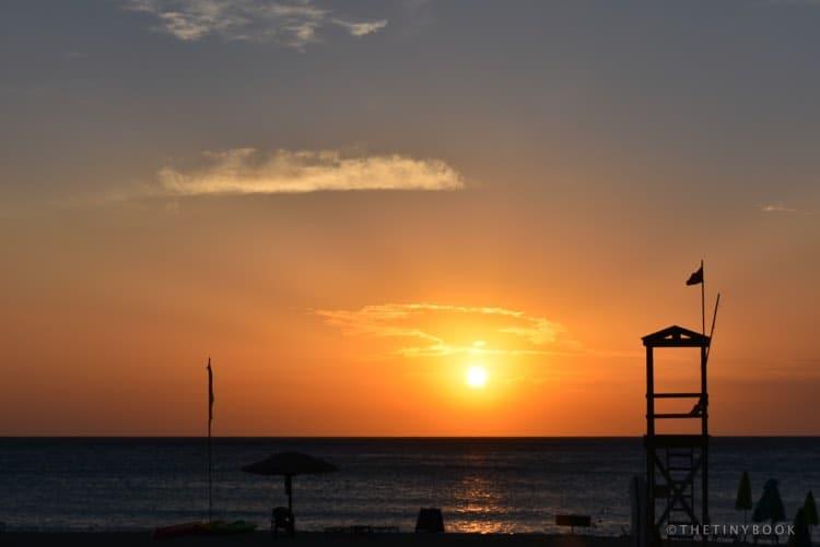 Sunset at the Big Beach of Falassarna.