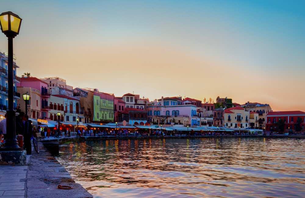 GREECE - CRETE - CHANIA - VENETIAN PORT - SUNSET