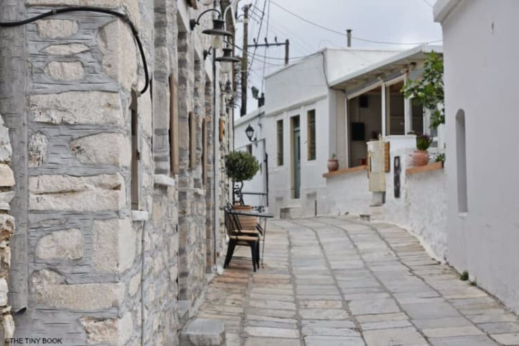 Apeiranthos village on Naxos island.