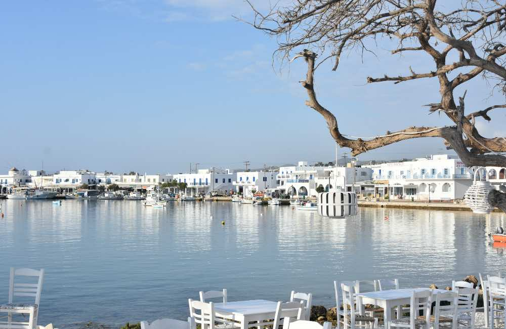 GREECE - ANTIPAROS - PORT - RESTAURANT BY THE SEA