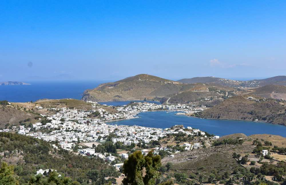 GREECE - PATMOS ISLAND - AERIAL VIEW