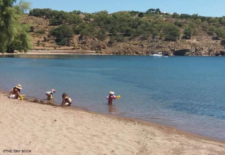 Meloi beach, Patmos island.