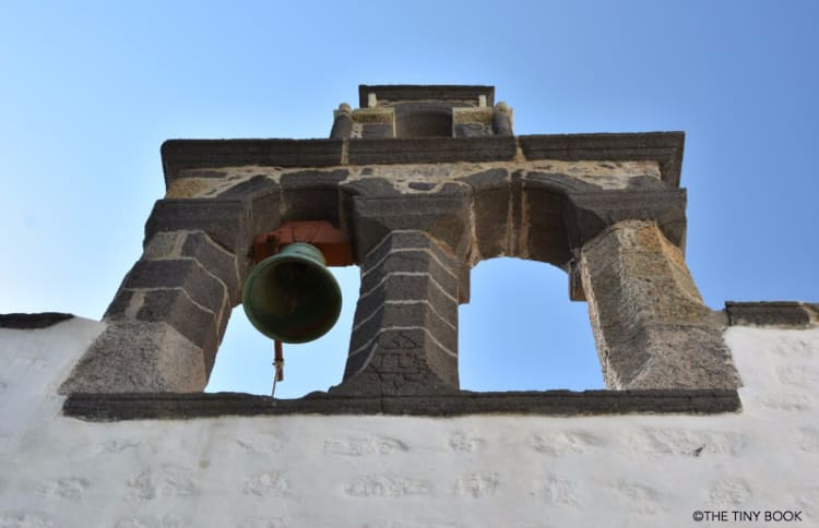 Patmos island, Bell tower in the Cave of Saint John.