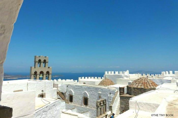 Roof of Saint John Monastery, Patmos island.