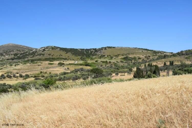 Countryside Sangri, Greek island of Naxos.