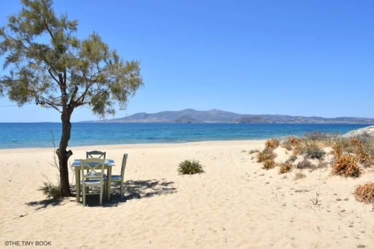Maragas beach. Naxos island, Greece