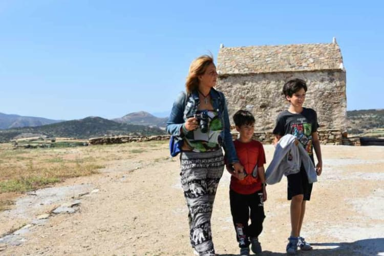 Sanctuary of Sangri, Naxos island. Greece
