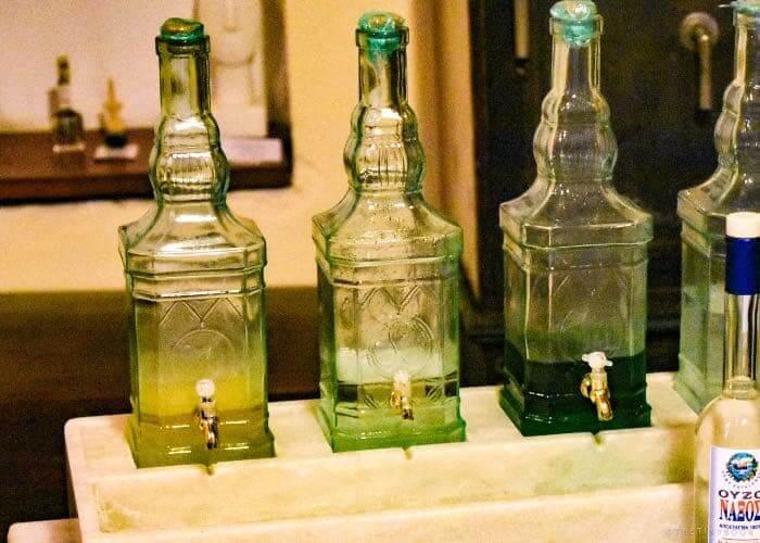 bottles with naxos liquor, Kitron