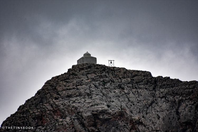 Mountain and church on top