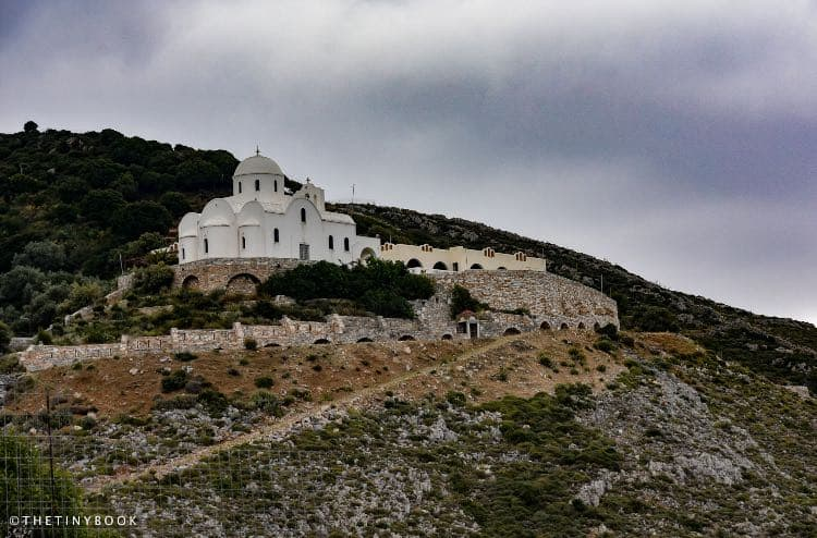 Mountain and church - naxos