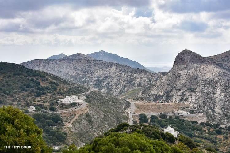 mountains Naxos island